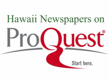 Hawaii Newspapers on ProQuest
